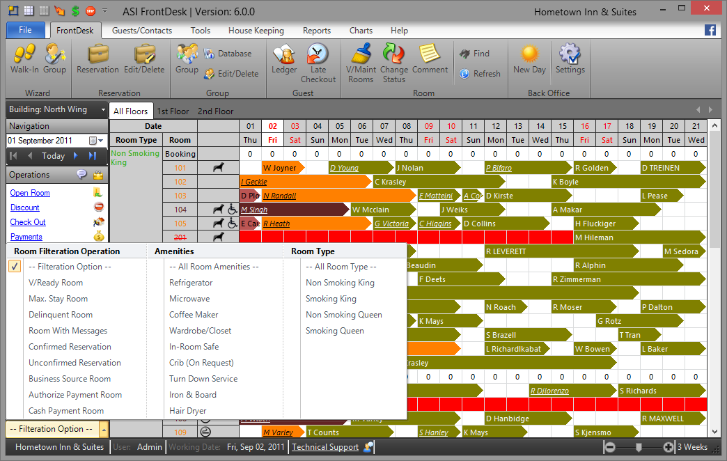 Hotel Software Screenshot – Anand Systems Inc